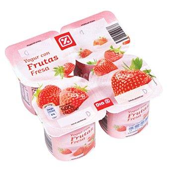 DIA Yogur con fresa pack 4 unidades 125 g