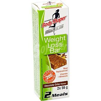 WEIDER Weight Loss Bar barritas sustitutivas sabor chocolate envase 110 g 2 unidades