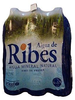 Aigua de Ribes Agua mineral natural Pack 6 x 1500 cc - 9000 cc