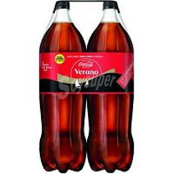 Coca-Cola Zero Refresco de cola sin cafeina Pack 2x2,2 litros