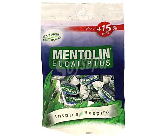 Mentolín Caramelos con sabor a eucalipto sin azúcar con edulcorantes 115 g