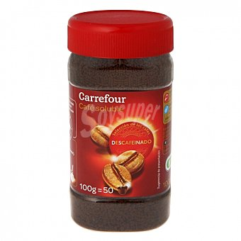 Carrefour Café soluble mezcla descafeinado 100 G 100 g