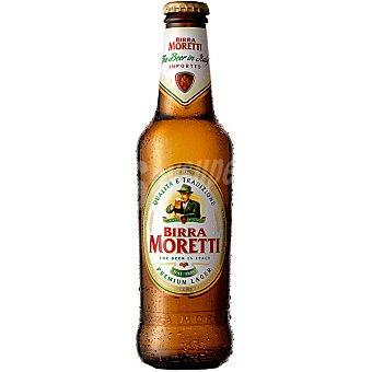 Birra Moretti Cerveza rubia importación italiana botella 33 cl 33 cl
