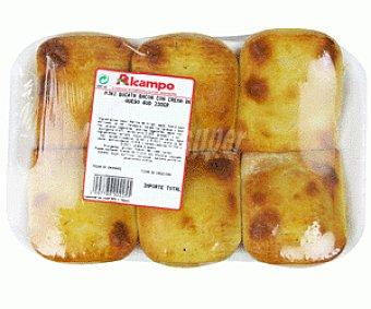 Empanadilla Mini Bocata Bacon c/crema de Queso 6 Unidades 230 Gramos