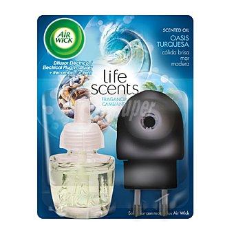 Air Wick Ambientador eléctrico Life Scents Oasis Turquesa + recambio Ambientador eléctrico Life Scents Oasis Turquesa + recambio 1 ud.