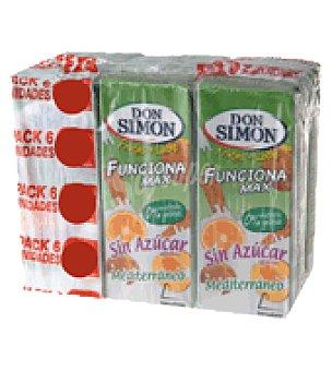 Don Simón Zumo mediterraneo funciona max sin azúcar Pack de 6x200 ml