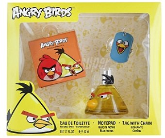 Angry Birds Estuche Eau de Toilette 50ml +bloc notas+ Colgante, Yellow 1 Unidad