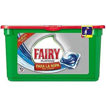 FAIRY Platinum Detergente máquina liquido para la ropa envase 38 cápsulas Envase 38 c