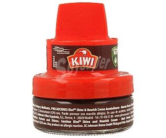 KIWI Limpia calzado crema marrón oscuro con aplicador  tarro 50 ml