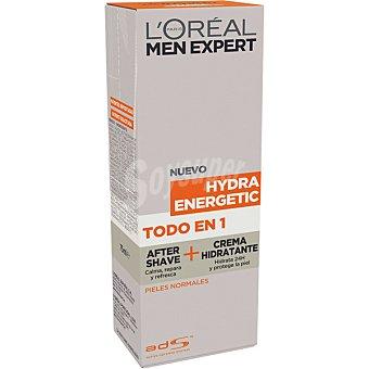 L'OREAL MEN EXPERT Hydra Energetic Todo en 1 after shave + crema hidratante para pieles normales tubo 75 ml Tubo 75 ml