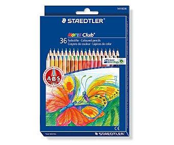 Staedtler Caja de 36 pinturas de diferentes colores y con sistema de protección de la mina 1 unidad