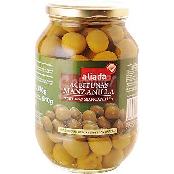 Aliada Aceituna manzanilla con hueso 510 g neto escurrido