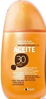 Solcare Protector solar F30 (aceite) Botella 250 cc