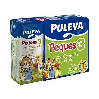 Puleva Papilla líquida infantil cereales Peques 3 con frutas desde 12 meses Pack 3 bricks x 200 ml