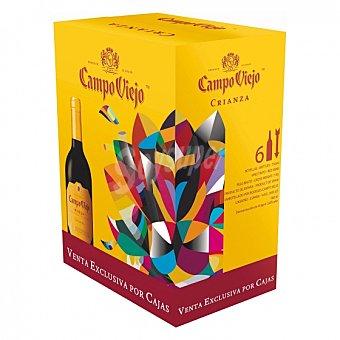 Campo Viejo Vino D.O. Rioja tinto Crianza Pack de 6 botellas de 75 cl