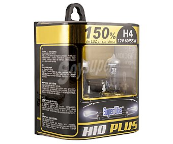 Superlite Bombillas de xenón para automóvil, con luz ultra blanca (5000K), modelo H4, potencia: 55-60W 2 unidades
