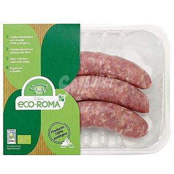Ecoroma Butifarras de cerdo ecológico peso aproximado Bandeja 300 g