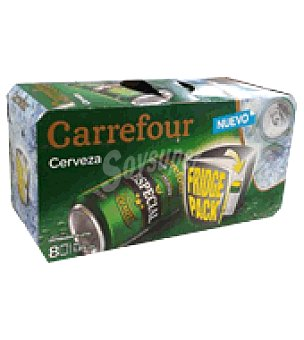 Carrefour Cerveza especial  Pack de 8x33 cl