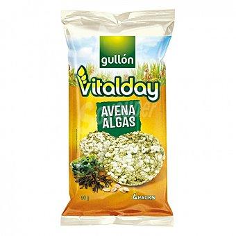 Gullón Tortitas de avena y algas Vitalday 90 G 90 g