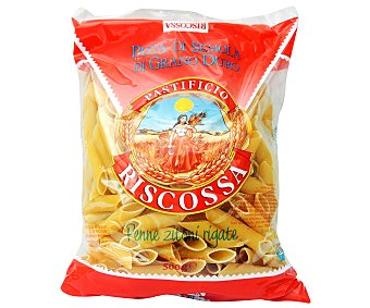 RISCOSSA Plumas Nº 25, pasta de sémola de trigo duro de calidad superior 500 Gramos