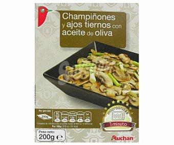 Auchan Champiñones con ajos tiernos con aceite de oliva 200 Gramos
