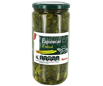 Auchan Espinacas al natural Tarro de 425 Gramos