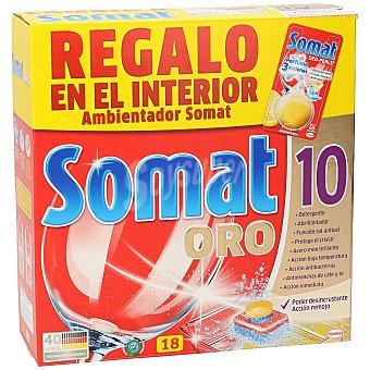 Somat Detergente lavavajillas 12 funciones Oro  Caja 27 pastillas