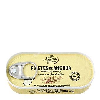 De nuestra tierra Filetes de anchoa del Cantábrico en aceite de oliva 50 g