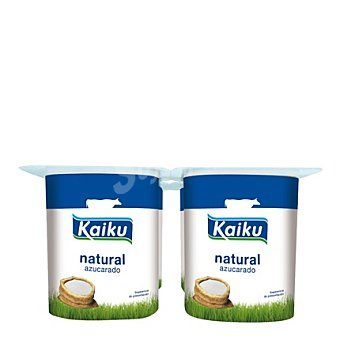 Kaiku Yogur natural azucarado Pack de 4x125 g