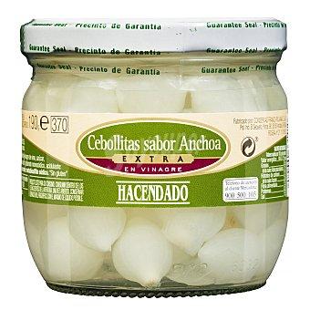 Hacendado Cebollitas sabor anchoa Tarro 350g. escurrido 190g