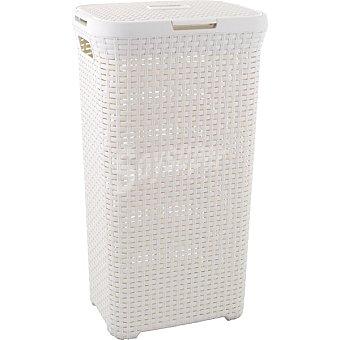 CURVER Natural Style Cesto de ropa de plástico con tapa blanco 40 l 40 l