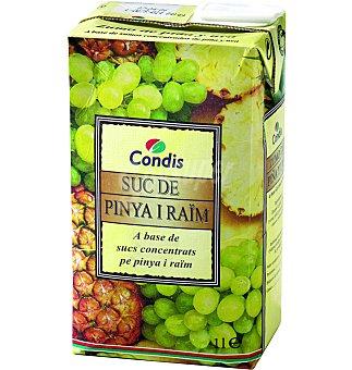 Condis Zumo piña-uva Brick 1 lts