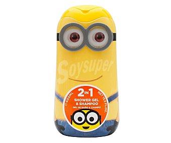 Minions Gel y champú para baño o ducha, con la forma de un Minion 400 ml
