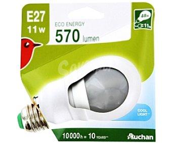 Auchan Bombilla bajo consumo Estándar Luz Día E27 11W 1 Unidad