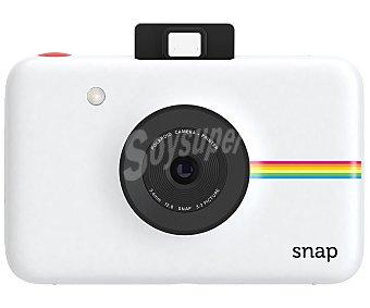 """Polaroid snap Cámara instantánea instantánea tamaño 2 x 3"""", 10 Megapixeles, lector de tarjetas MicroSD, batería de litio, autodisparador, color blanco"""