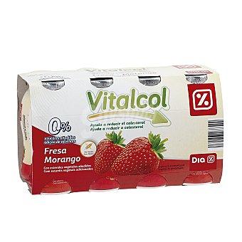 DIA VITAL Yogur líquido reduce colesterol fresa Pack 8 uds x 100 g