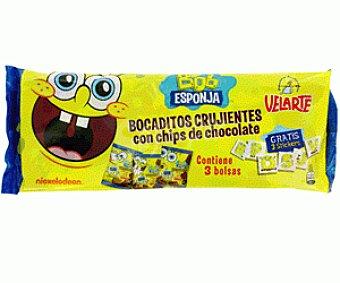 Velarte Barritas de Pan Crujientes Con Chocolate Bob Esponja 90g