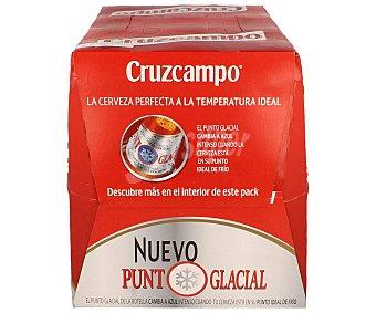 Cruzcampo Cerveza rubia nacional  Pack 12 botellas 25 cl