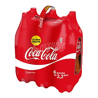 Coca-Cola Refresco de cola regular Pack 6x2,20 l