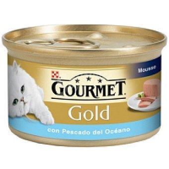 Gourmet Purina Mousse de pescado blanco para gatos Gold Lata de 85 g