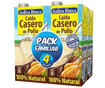 Gallina Blanca Caldo casero de pollo 100% natural Pack 4 envases 1 l