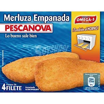 Pescanova Filetes de merluza empanados Caja 340 g