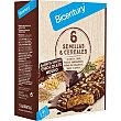 Barritas con sabor a chocolate negro con 6 semillas y cereales estuche 5 unidades estuche 5 unidades Bicentury