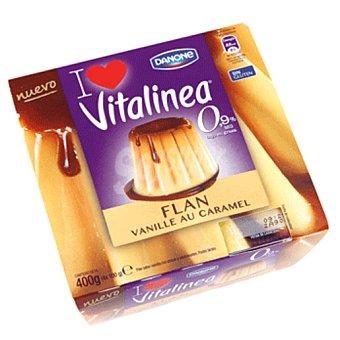 VITALINEA de DANONE Flan de vainilla 0% 4X100 gramos
