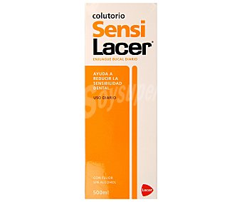 Lacer Enjuague bucal diario con flúor y sin alcohol reduce la sensibilidad dental Frasco 500 ml