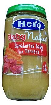 HERO BABY TARRITO ZANAHORIAS BABY CON TERNERA  A PARTIR 6 MESES (BABY NATUR) TARRO 235 g