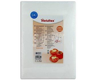 METALTEX Tabla de cortar de polietileno color blanco, 33x23x1,5 centímetros 1 Unidad