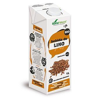 Soria Natural Bebida de lino ecologico sin azúcares añadidos Brik 1 l