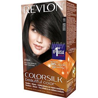 Revlon Color Silk Tinte Negro Suave nº 11 permanente y sin amoniaco caja 1 unidad 1 unidad