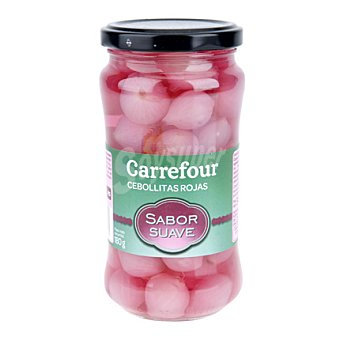 Carrefour Cebollitas rojas sabor suave 180 g